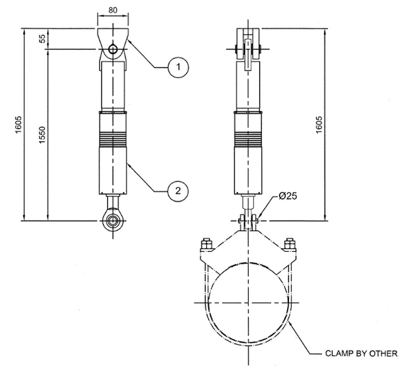 Hydraulic snubber drawing CPA