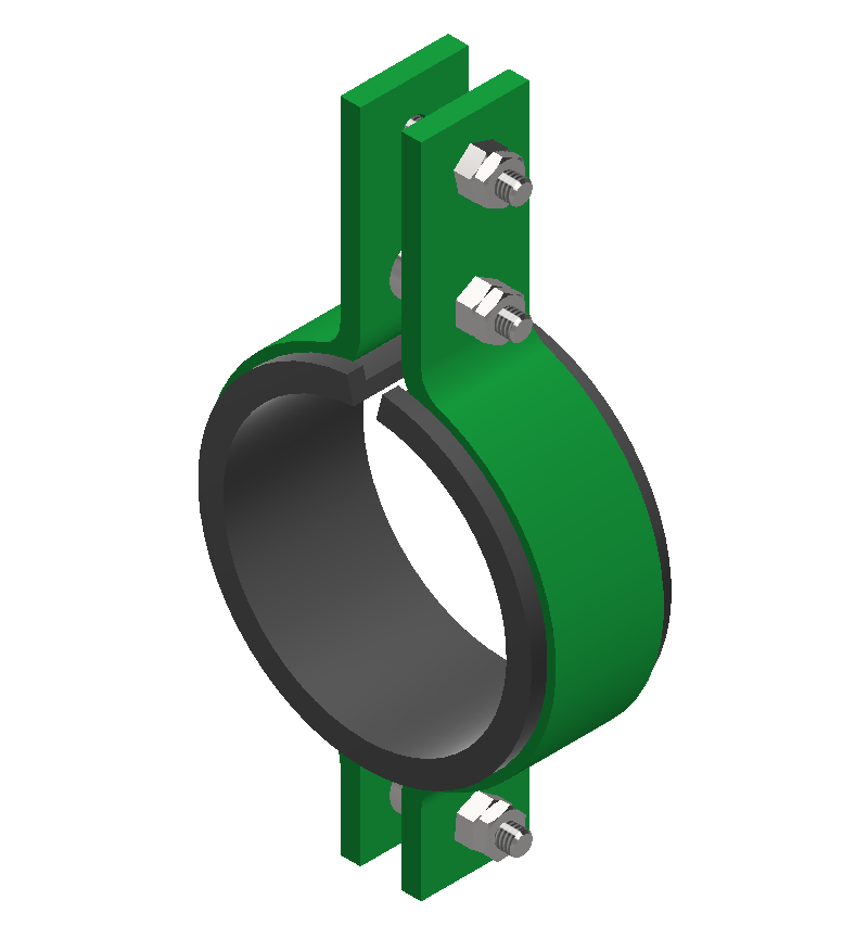 Insulated 3 Bolt Pipe Clamp